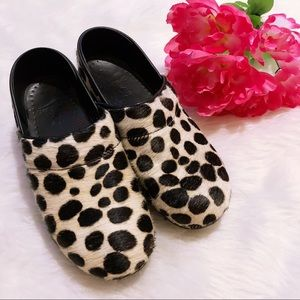 Leopard Print Calf Hair Dansko Shoes